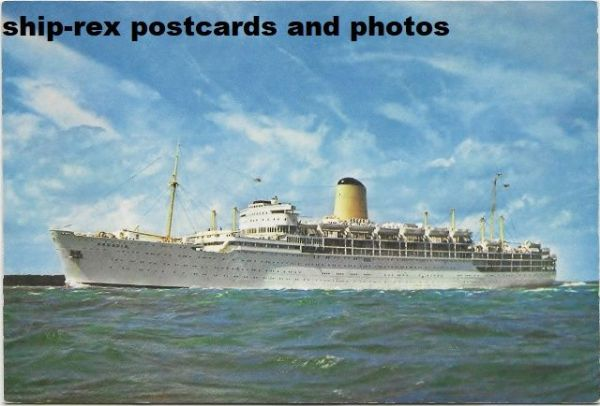 ARCADIA (1954, P&O Orient Lines) postcard (a1)